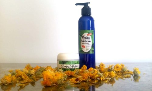 Natural Herbal Balm and Lotion